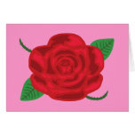 Rosa rojo bonito tarjeta