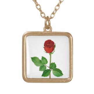 Rosa rojo colgante cuadrado