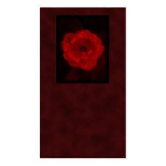 Rosa rojo. Con negro y de color rojo oscuro. Tarjetas De Visita