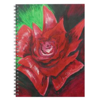 Rosa rojo cuadernos