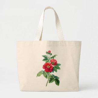 Rosa rojo de la provincia bolsas de mano