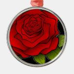 Rosa rojo de la tarjeta del día de San Valentín
