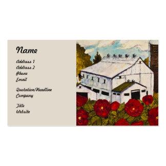 Rosa rojo de Lancaster y tarjetas de visita del gr