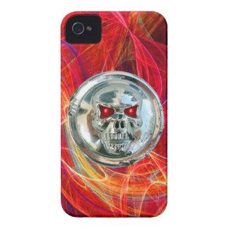 Rosa rojo de los JINETES del CRÁNEO iPhone 4 Case-Mate Coberturas