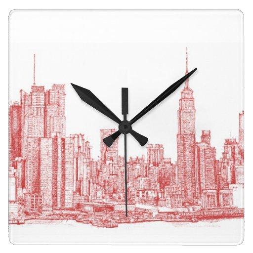 Rosa rojo de Nueva York Reloj