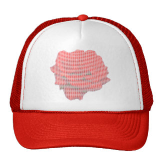 Rosa rojo del punto pequeno gorras