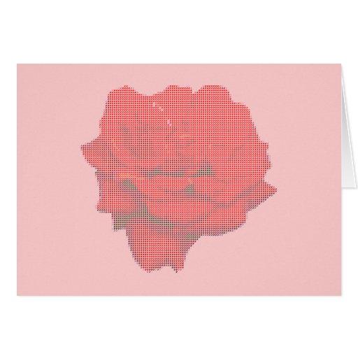 Rosa rojo del punto pequeno tarjeta de felicitación