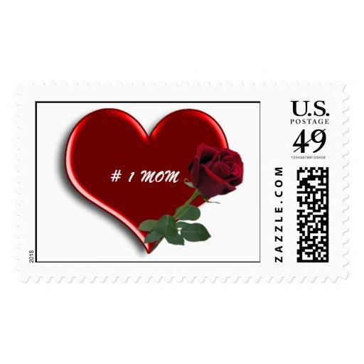 rosa rojo del tronco largo de cristal de los sello