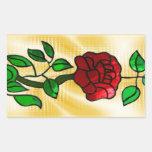 Rosa rojo del vitral rectangular altavoces