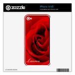 Rosa rojo delicado calcomanía para iPhone 4S