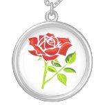 Rosa rojo día 12 de junio feliz collares