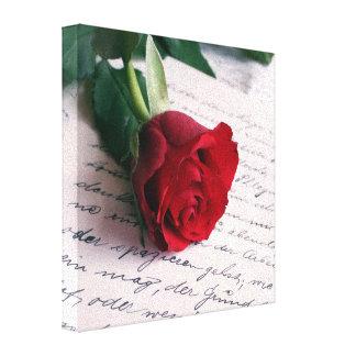 Rosa rojo en un personalizar del healinglove de la impresiones de lienzo