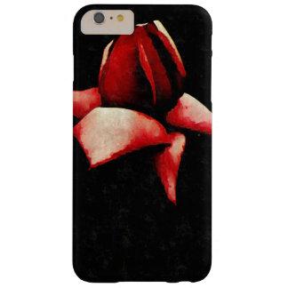 Rosa rojo estilizado abierto de par en par del funda para iPhone 6 plus barely there