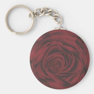 rosa rojo fabuloso llavero redondo tipo pin