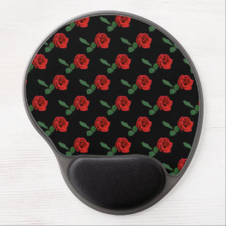 Rosa rojo floral alfombrilla con gel