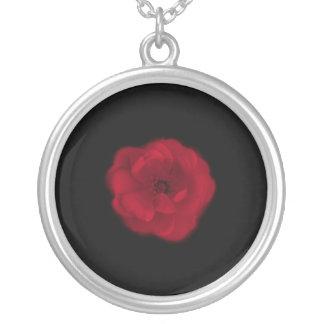 Rosa rojo. Fondo negro Colgante