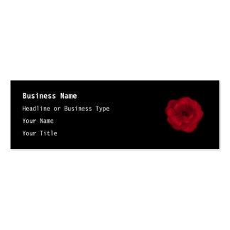 Rosa rojo. Fondo negro Tarjetas De Visita Mini