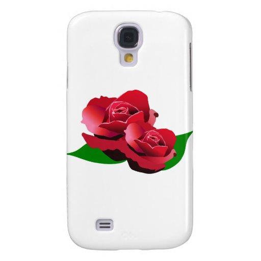Rosa rojo funda para galaxy s4