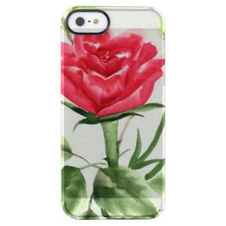 Rosa rojo funda clearly™ deflector para iPhone 5 de uncommon