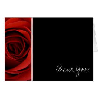 Rosa rojo - gracias tarjeta pequeña