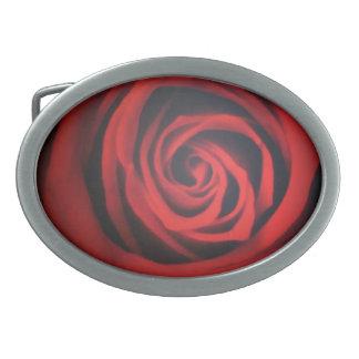 Rosa rojo hebillas de cinturon