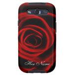Rosa rojo hermoso galaxy SIII carcasas