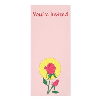 Rosa rojo invitación