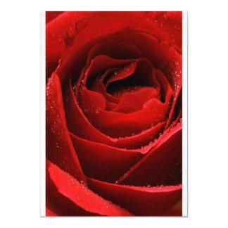 """Rosa rojo invitación 5"""" x 7"""""""