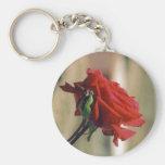 Rosa rojo llavero personalizado