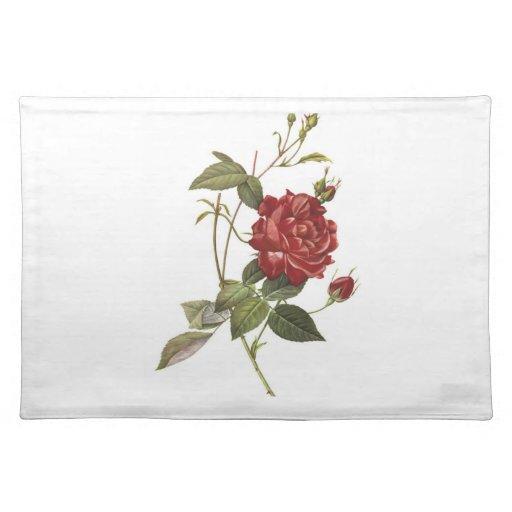 Rosa rojo mantel