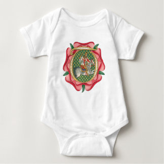 Rosa rojo medieval body para bebé