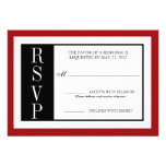 Rosa rojo moderno RSVP Invitaciones Personalizada