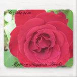 Rosa rojo Mousepad Alfombrillas De Ratones