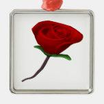 Rosa rojo ornamento de navidad