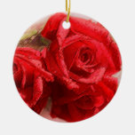 Rosa rojo - ornamento ornaments para arbol de navidad