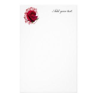 Rosa rojo papelería de diseño