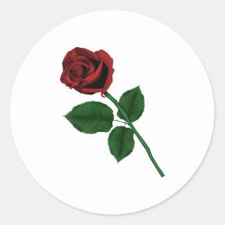 Rosa rojo pegatina