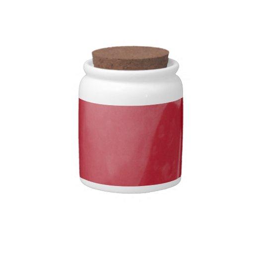 Rosa rojo platos para caramelos