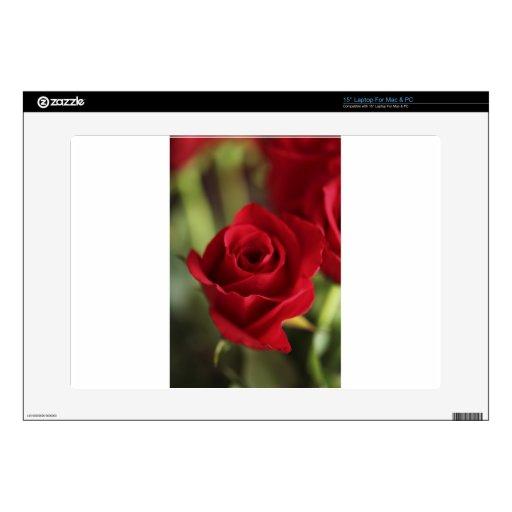 Rosa rojo portátil 38,1cm skin