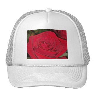 Rosa rojo radiante gorras de camionero