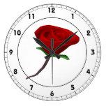 Rosa rojo relojes de pared