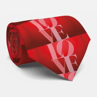 Rosa rojo romántico del amor corbata personalizada