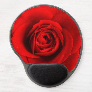 Rosa rojo romántico hermoso alfombrilla de ratón con gel