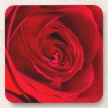 Rosa rojo romántico posavasos