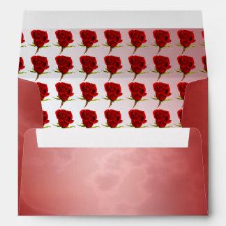 Rosa rojo romántico sobre