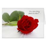 Rosa rojo romántico te amo solamente uno para mí felicitación