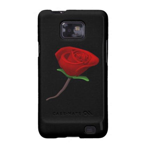 Rosa rojo samsung galaxy SII carcasas