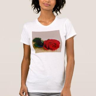rosa rojo T-Shir Playera