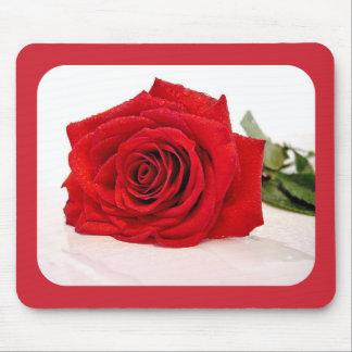 rosa rojo tapete de ratones