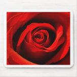 Rosa rojo tapetes de ratones